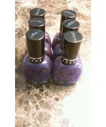 Lot of 6 Neon Purple Finger Nail Polish Set New Nabi - $5.99