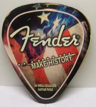 Embossed FENDER MAKE HISTORY XXL Guitar Pick Me... - $23.33