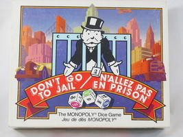 Don't Go To Jail 1991 the Monopoly Dice Game Parker Brothers EUC Bilingu... - $15.30