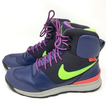 Nike Stasis ACG Hiking Trail Boots Mens Purple Neon Green Size 8.5 M 616192 - £36.47 GBP
