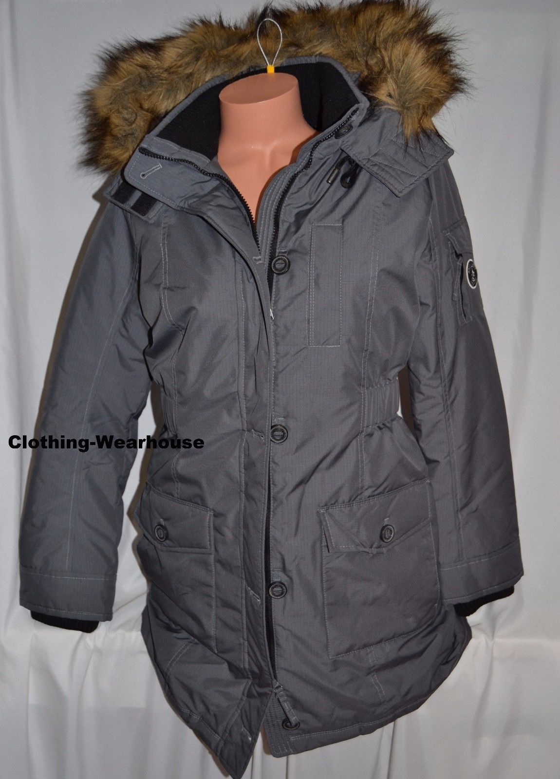 f2e2946700f S l1600. S l1600. Previous. NEW Abercrombie & Fitch Womens Hooded Arctic Parka  Jacket Coat ...