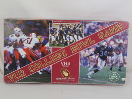 VCR College Bowl 1987 Football Video Board Game 100% Complete New Opened... - $17.70