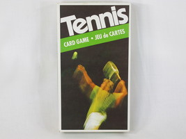 Tennis Card Game 1975 Parker Brothers 100% Complete Excellent Bilingual - $10.84