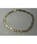 14k 585 Yellow Gold Heart Mesh Bracelet not a scrap - $250.00
