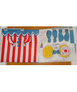 Vintage Fabric Panel Clown Pajama Bag or Wall Hanging 1/2 Yard - $7.99