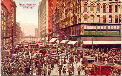 Primary image for  Noon Hour Traffic State Street Chicago 1910 Post Card
