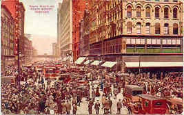 Noon Hour Traffic State Street Chicago 1910 Post Card - $5.00