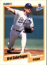 1990 Fleer Bret Saberhagen #116 Kansas City Royals (MT) Baseball Card - $0.79