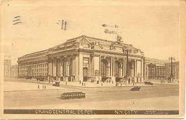 Grand Central Depot New York City Vintage 1909 Post Card  - $6.00