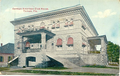 Primary image for German American Club Tampa Florida Vintage Post Card