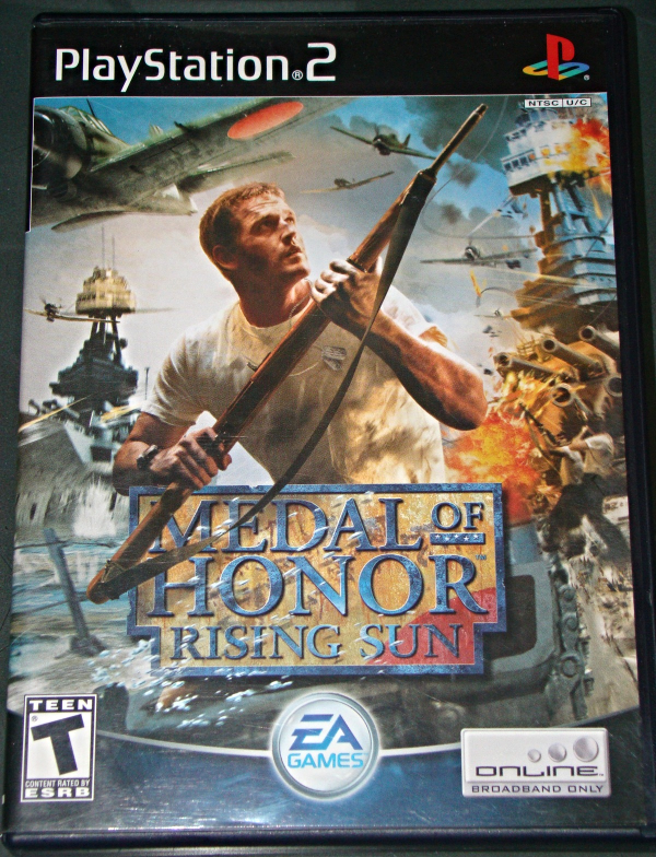 playstation 2 ea games medal of honor rising sun complete with instructions video games. Black Bedroom Furniture Sets. Home Design Ideas