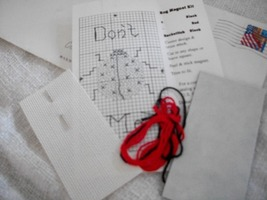 Lady Bug Counted Cross Stitch Magnet Kit - $5.00
