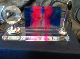 Hand Crafted Crystal New York Themed Desk Pen H... - $24.76