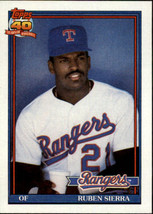 1991 Topps Ruben Sierra #535 Texas Rangers (MT) Baseball Card - $0.79