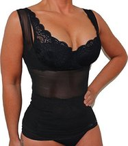 Envy Tank Top Shaper with Removable Pads(Top Only) Black (S) [Apparel] - $15.99