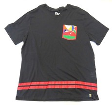 Nike Dri-fit Black Short Sleeve T-Shirt w/ Multi-Colored Pocket Men's Si... - $29.65