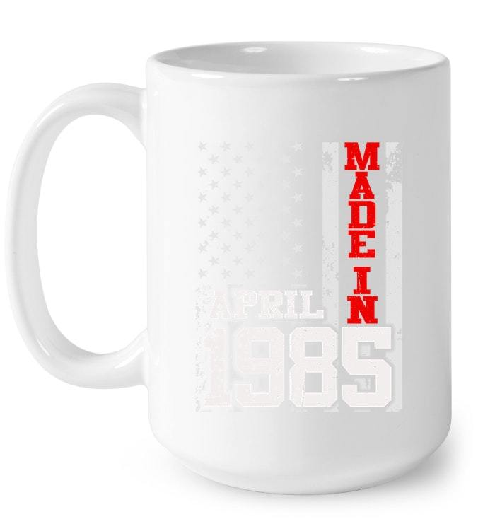 Made In Legends Born In APRIL 1985 Vintage 33 Yrs Years Old Gift Coffee Mug