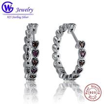 2018 Earrings for Women Original 925 Sterling Silver Little Heart Sharp ... - $21.73