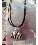 NEW - Pacific Styles Black Purse Charm Necklace - $9.99