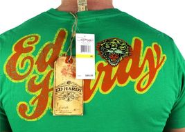 BRAND NEW ED HARDY CHRISTIAN AUDIGIER MEN'S SHIRT T-SHIRT GREEN TIGER SIZE S image 4
