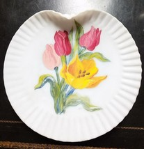 Estate find - exquisite Mount Washington Glass Co handpainted plate  - T... - $29.99
