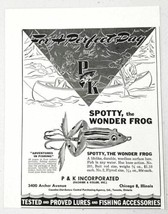 1947 Print Ad P&K Spotty The Wonder Frog Fishing Lures Pachner Koller Ch... - $10.83