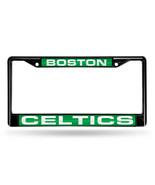 NBA Boston Celtics Black Laser Cut Chrome License Plate Frame - $27.43