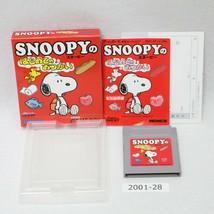 Nintendo Gameboy Snoopy Hajimete Otsukai Caja Laboral Japón 2001-027 - $33.14