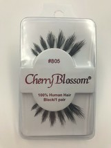 CHERRY BLOSSOM EYELASHES MODEL# 805 BLACK 1 PAIR PER EACH PK - $1.48+