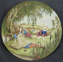 Alice And The White Rabbit Collector Plate Sandy Nightingale Wonderland ... - $29.95