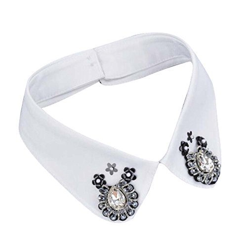 Retro Elegant Beads Detachable False Collar Adjustable Collar-09