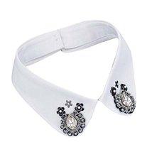 PANDA SUPERSTORE Retro Elegant Beads Detachable False Collar Adjustable Collar-0