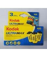 Kodak UltraMax 35mm 400 ISO Photo Camera Film 3 Rolls 72 Exposures Exp 3/16 - $17.63
