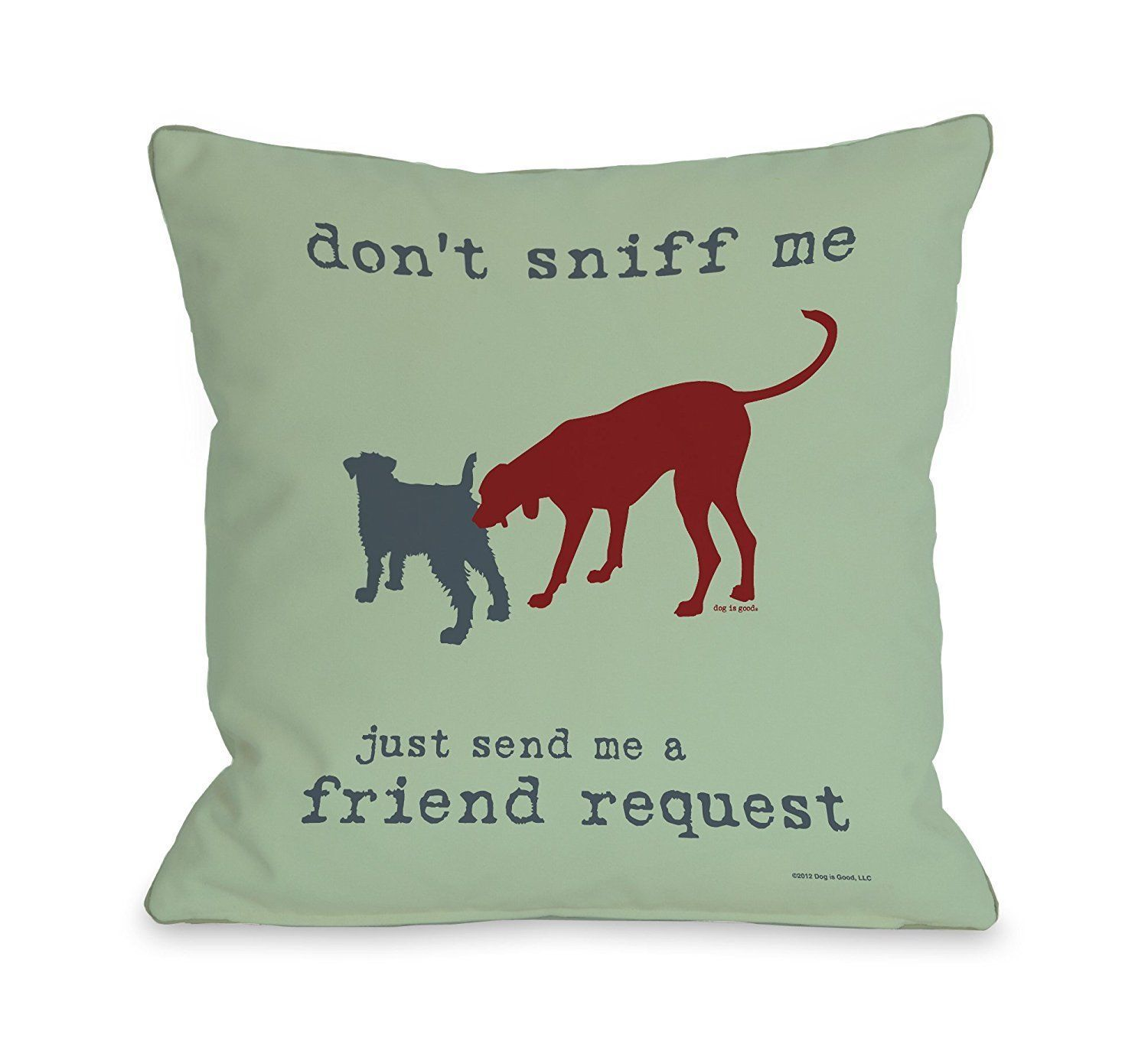 Primary image for One Bella Casa Friend Request Mint Throw Pillow, 26 by 26-Inch
