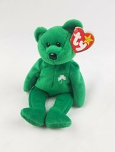 Vtg TY Beanie Baby Erin Bear green 1997 retired Saint Patrick Day - $7.92