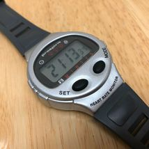 Vintage Prospirit Mens Silver Digital Heart Rate Chrono Watch Hours~New Battery image 3