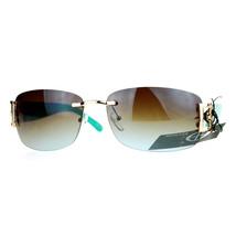 Womens Designer Sunglasses Rimless Rectangular Fashion Eyewear - $9.85+