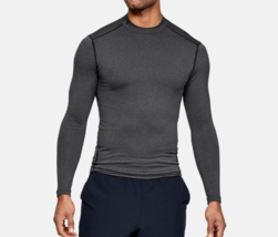 Under Armour Men's ColdGear Compression Mock Tee NEW AUTHENTIC Grey 1265... - $41.99