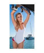 New $172 Sun Kitten Women's 1 Pc Swimsuit American Girl Sky Blue Red Pol... - $118.80