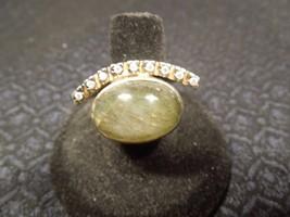 "Designer Bora Sterling Bold Labrodorite BRUTALIST MODERNIST ""Eye"" Ring S... - $111.38"