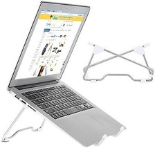 Uniwish Foldable Aluminum Laptop Stand, Adjustable Height Width And Angle, And - $24.14