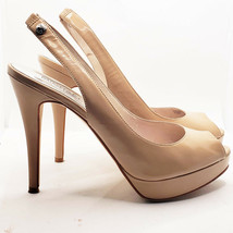 Michael Kors Natural York Peep Toe Slingback Heels 7 1/2 - $37.62