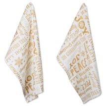 """DII Cotton Decorative Christmas Metallic Dish Towel 18 x 28"""" Set of 2, O... - $28.99+"""