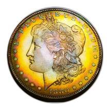 1880 O UNC MORGAN SILVER DOLLAR  SEMI PL/ TONING,/KEY DATE * 318 - $161.70
