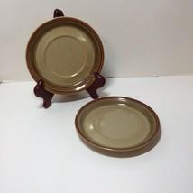 2 Saucers Mikasa Potter's Art Country Cabin Stoneware Ben Seibel - $14.50