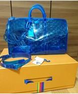 d3a96750ebab Louis Vuitton Keepall 50 Virgil Abloh Blue Boston Bag M53272 - £4