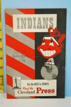 1949 Cleveland Indians Scorecard v Detroit Tigers Unscored Clean Sept 24 - $34.65
