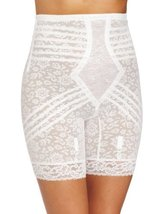 Rago Women's Hi Waist Long Leg Shaper, White, Medium/28 [Apparel] - $41.91