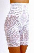 Rago Shapewear High-Waist Long Leg Pantie Girdle Style 6207 - White - XLarge - $37.46