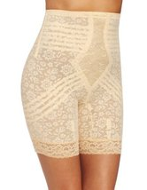 Rago Women's Hi Waist Long Leg Shaper, Beige, Large/30 [Apparel] - $44.10